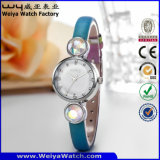 Kundenspezifische Firmenzeichen-Quarz-Uhr-Form-Armbanduhren für Damen (WY-077D)