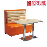 Restaurante Reta Personalizado Foh Cabine duplo sofá para coffee shop/café (FOH-XM31-290)