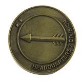 Abitudine superiore 2D o moneta di Antiqu di sfida del metallo 3D