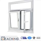 이중 유리를 끼우기를 가진 PVC/UPVC Windows 여닫이 창 Windows 경사와 회전 Windows