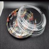 12 인치 둥근 처분할 수 있는 플라스틱 용기 당 쟁반 초밥 쟁반