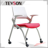 Silla usada al por mayor del plástico de los muebles de escuela y de plegamiento de la tela