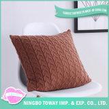 卸し売り白く美しい有機性綿の装飾的な枕カバー40X40