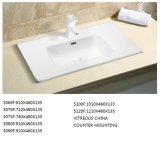 Sanitaryware Thin-Edge rectangular de 80cm Lavabo para baño vanidad (5080F)