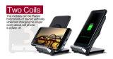 caricatore senza fili 10W con il dispositivo di raffreddamento del ventilatore per il iPhone 8 e Samsung S8