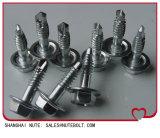 Aço inoxidável 18-8 304 316 410 parafusos sextavados com arruela, parafusos de perfuração St3.5