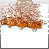Abanico mosaico de vidrio ámbar para Cocina Cuarto de baño