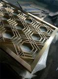 Divisorio dorato dell'acciaio inossidabile di colore di rivestimento dello specchio