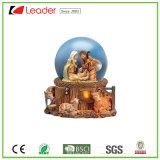 Resina Hand-Painted Natal artesanais Santa Snow globo com a Estátua da esfera de água para decoração e Loja Dom