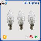 Retro indicatore luminoso della candela della lampadina di stile E27 Edison LED con alloggiamento di vetro