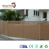 Frontière de sécurité en bois Anti-UV de jardin du composé WPC avec le poste en aluminium