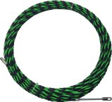 6,5 mm/30m Noir et Vert Three-Core Fils de l'extracteur de câble en nylon