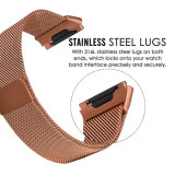 De oranje Milanese Riem van het Metaal van de Lijn voor de Ionische Band van het Horloge van de Vervanging van de Band Fitbit