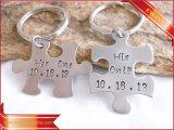 Trousseau de clés promotionnel de logo de porte-clés de véhicule en métal