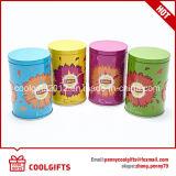 Weihnachtsgeschenk-runder chinesischer grüner Tee-Zinn-Kasten mit doppelter Kappe