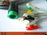 Control de la fisio Direct-Connect Compatible con el cable de ECG con Clip.