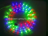 RGB 4 철사 둥근 LED 복각 밧줄 빛