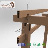 Pergola en bois du composé WPC de poste en aluminium