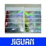 最上質の反偽造品の薬剤のカスタム機密保護10mlのホログラムのガラスびんのラベル