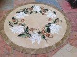 Azulejos de piso de mármol Polished de azulejos del medallón de Waterject