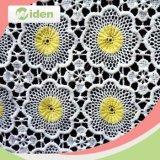 Farben Dyeable 100% Polyester-chemisches weiße Blumen-Spitze-Gewebe