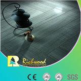 pavimento laminato V-Grooved resistente dell'acqua della quercia dello specchio di 12.3mm