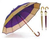12 Paraplu van de Grens van de Schacht van de Glasvezel van ribben de Wind Houten (ys-SM25123517R)