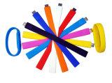 Mecanismo impulsor colorido del flash del USB de la pulsera con su propia impresión de la insignia o del texto
