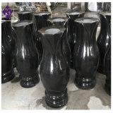 Florero extendido granito negro de la alta calidad