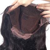 Самый популярный черный цвет теряет парик шнурка китайских человеческих волос полный