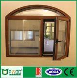 Alumínio arqueados Casement Windows com obturador cega Pnoc0050cmw