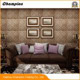ホーム装飾のための居間TVの背景PVC 3D壁紙、ホーム装飾3Dの自然な自己接着防水泡の壁紙