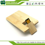 Lecteur flash USB en bois en bloc en bois de logo de la gravure 2GB