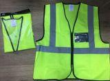 Jaqueta de segurança amarela, feita de tecido de confecção de malhas, conheça En471