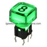Bouton poussoir de brevets de lumière LED Interrupteur tactile