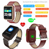 Perdometer坐ったメモD28の年配のスマートなGPSの追跡者の腕時計