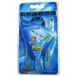 Asr Sensor Triple Blade Disposable Razor (KD-B3008L di 3PCS)