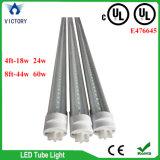 Anerkannte LED helle Vorrichtung der UL-Gefäß-T8 8FT mit 3 Jahren Garantie Lm80 100-277V UL-