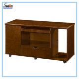 Mesa de escritório luxuosa do folheado de madeira em forma de L (FEC-A40)