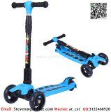 Дети 3 колеса со светодиодной лампы для скутера колеса регулируется за поручень