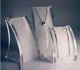 Jeu d'étalage en plastique acrylique clair fait sur commande de collier de bijou de bijou