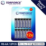 1.5V China Fertigung-Hochleistungsbatterie für Rauch Detetor (R6-AA 12PCS)