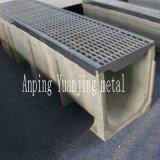 Полимерный конкретные дренажные траншеи канал со стальной поверхности Скрип крышки