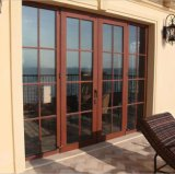 В европейском стиле больших масштабах алюминиевая дверная рама перемещена стеклянные двери с оформлением гриль (ACD-003)