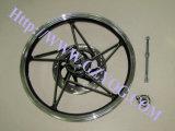 Yogの良質のオートバイはアルミニウム縁の完全な鋼鉄車輪の縁カラー青緑の赤いタイタンのBajajの貨物185-18 160-18を1.40-18 215-17 160-17 Akt分ける