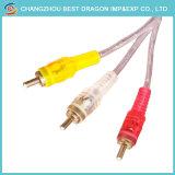 Fernseher-Spitzenkasten-Audiovideo 3 RCA 3RCA zum zusammengesetzten Handels Kabel