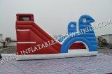 Открытый защитный надувные водными горками для детей/надувные слайд для бассейн/пластик слайд