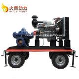 Bomba de água Diesel móvel da sução dobro da venda quente ajustada com o motor Diesel de 90kw Weichai