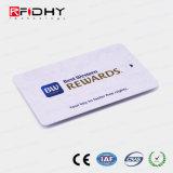 13.56MHz Mifare Ultralight (R) C RFID de Escritura de la tarjeta de recompensas de plástico