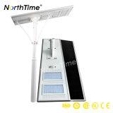luz de calle solar al aire libre integrada del control del APP del teléfono de 110W IP65